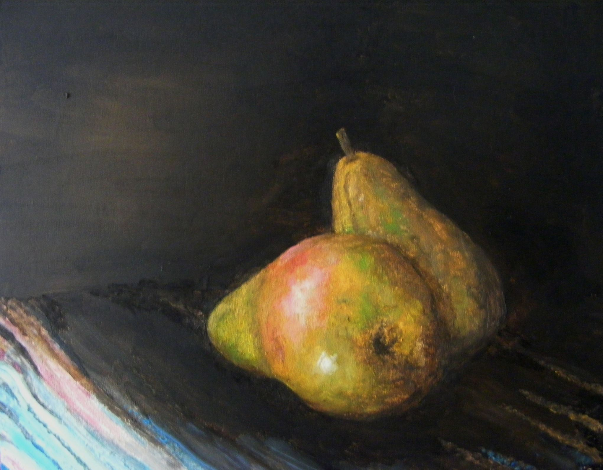 Oil Painting, Two Pears, Still Life, Gregory Pyra Piro