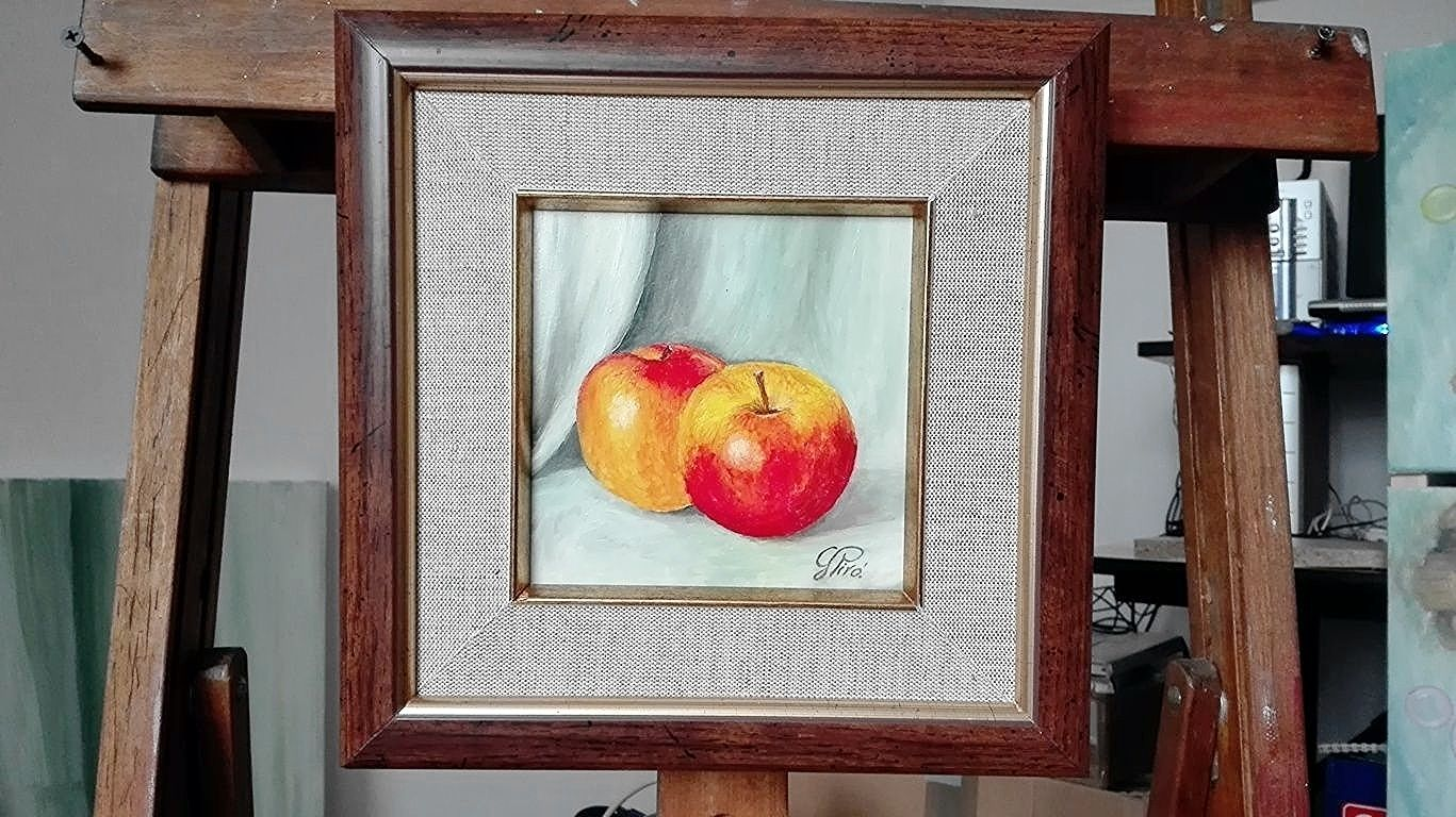 Oil Painting, Twin Apples, Gregory Pyra Piro